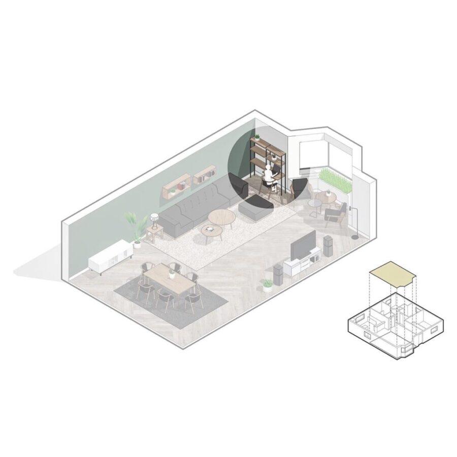 Opening Shelf as Work Area