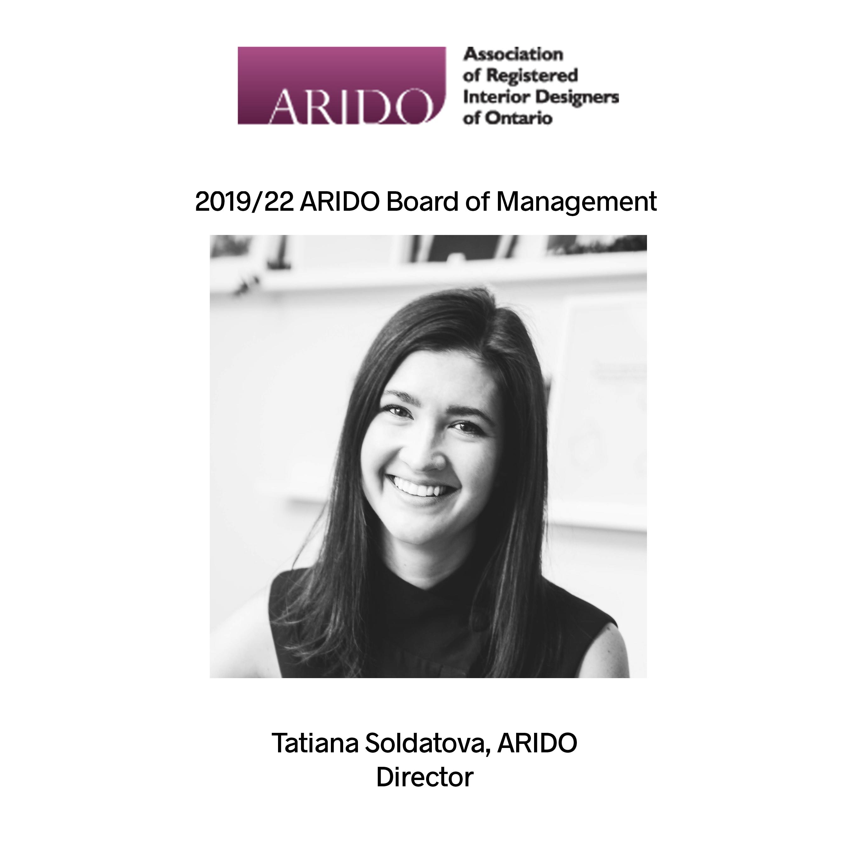 Tatiana Soldatova Appointed ARIDO Board of Directors 2019-2022